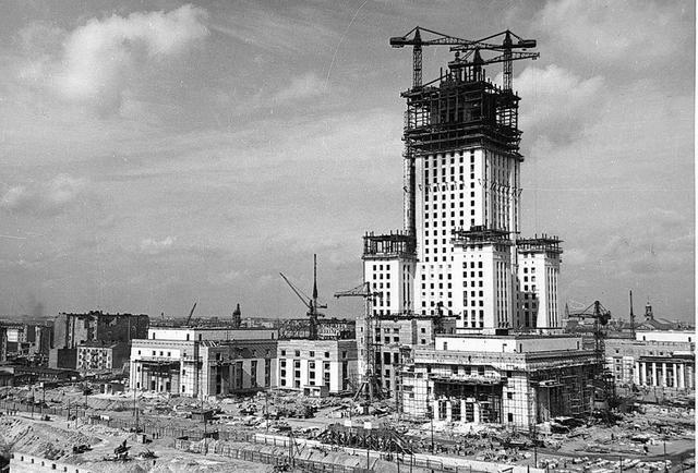 budowa Pałacu Kultury i Nauki