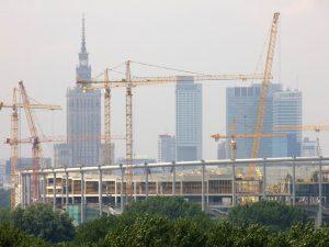 żurawie wieżowe Warszawa
